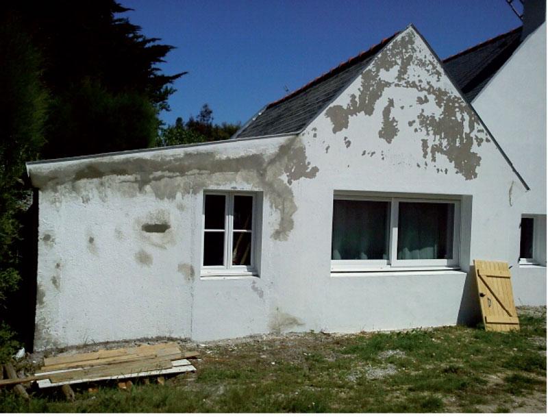 Pose de couverture sur maison en rénovation Auray