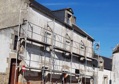 Ravalement de façade à Crac'h avant