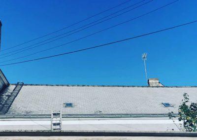 Avant application résine colorée toiture
