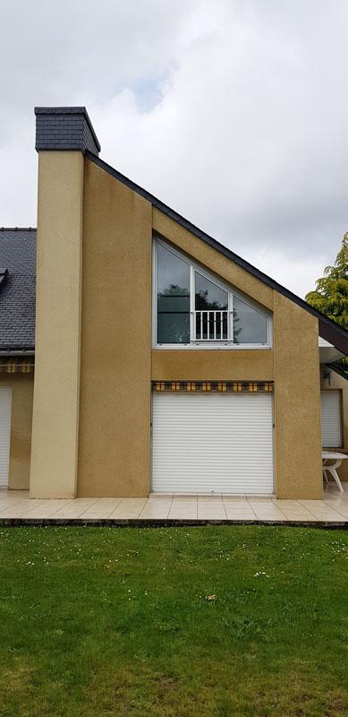 Résultat traitement anti-mousse façade maison