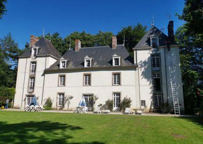 Traitement anti mousse toiture chateau Morbihan
