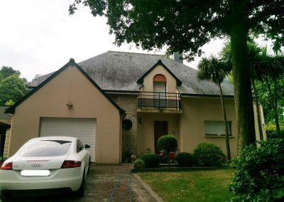 Maison Vannes avant traitement anti-mousse façade